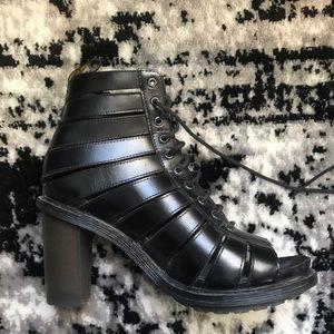 Dr Martens black lace up heel